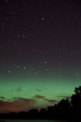 Northern lights and the big dipper