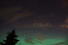 Big dipper, north star and aurora borealis